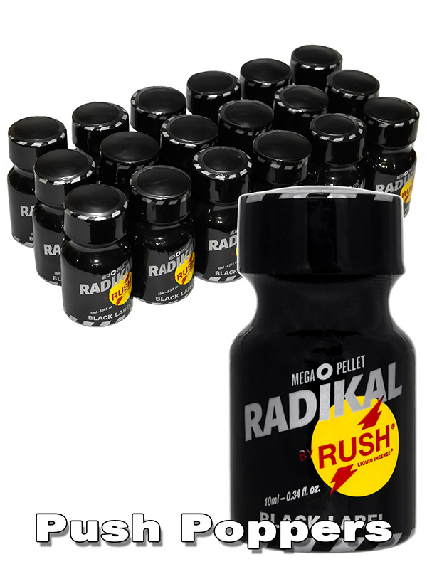 Poppers Rush Radikal Black 10 ml